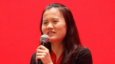 PHOTO: Peng Lei, CEO of the third party online payment processor Alipay Zhifubao (under Alibaba Group), speaks during a lecture in Beijing, China, Oct. 22, 2010.