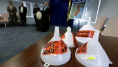 PHOTO: Funnels confiscated during an investigation dubbed