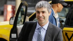 PHOTO: File - In this April 18, 2012 file photo, Google CEO Larry Page walks into a federal building in San Francisco during the copyright infringement case of Oracle vs. Google.