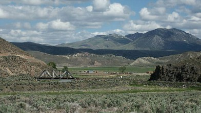 PHOTO: View from Palisade, Nevada, looking southeast towards Pine Mountain.