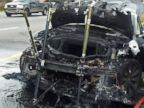 PHOTO: In this Nov. 6, 2013 photo provided by the Tennessee Highway Patrol, emergency workers respond to a fire on a Tesla Model S electric car in Smyrna, Tenn. Spokeswoman Liz Jarvis Shean says Tesla has sent a team to Tennessee to investigate the fire.