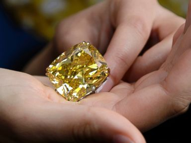 Photos: Giant Yellow Diamond Sells for $16.3 Million