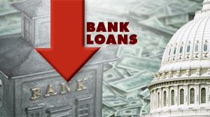 Bank Lending Down.