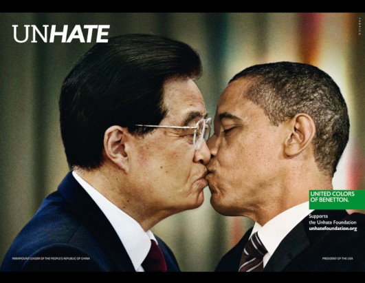 ... images that are part of benetton s new unhate ad campaign promoting