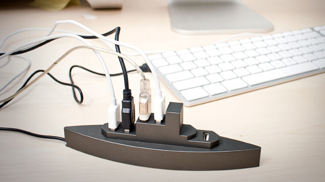 PHOTO: The USB Boat by Kikkerland Design, is shown.