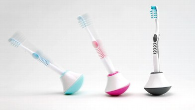 PHOTO: Bobble Brush toothbrush stand is shown.