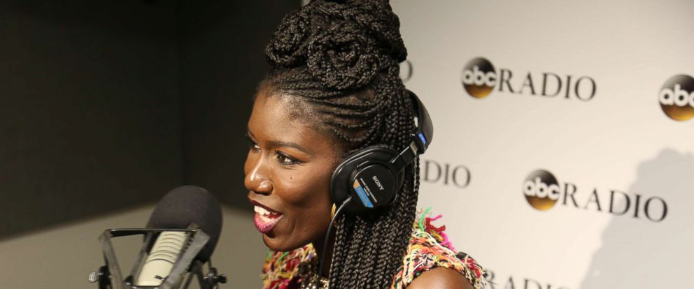 """PHOTO: Uber Chief Brand Officer, Bozoma Saint John tapes an episode of ABC Radios """"No Limits with Rebecca Jarvis""""."""