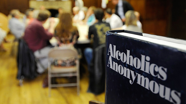 PHOTO: Alcoholics Anonymous meeting