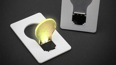 PHOTO: Credit card light bulb is shown.