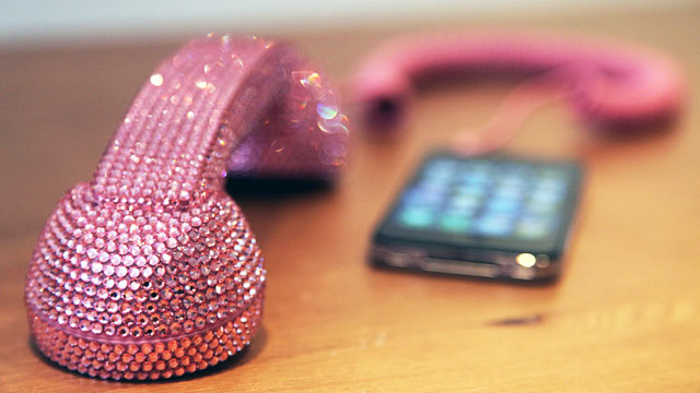 PHOTO: Native Union's Crystal Pink Pop handset is shown.