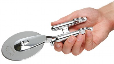PHOTO: The Star Trek Enterprise pizza cutter is shown.