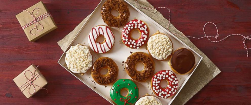 PHOTO: Posed to hit stores by November 20th, Dunkin Donuts released new seasonal flavors, the frosted sugar cookie donut, the gingerbread cookie donut, and a snowflake sprinkle donut.