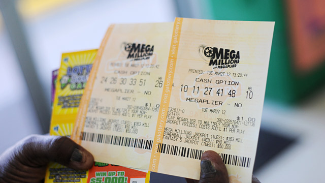 PHOTO: Mega Millions tickets