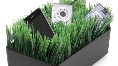 PHOTO: A grass charging station is shown.