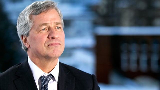 PHOTO: Jamie Dimon, chairman and chief executive officer of JPMorgan Chase & Co., listens during an interview on the third day of the World Economic Forum Annual Meeting 2011 in Davos, Switzerland, Jan. 28, 2011.