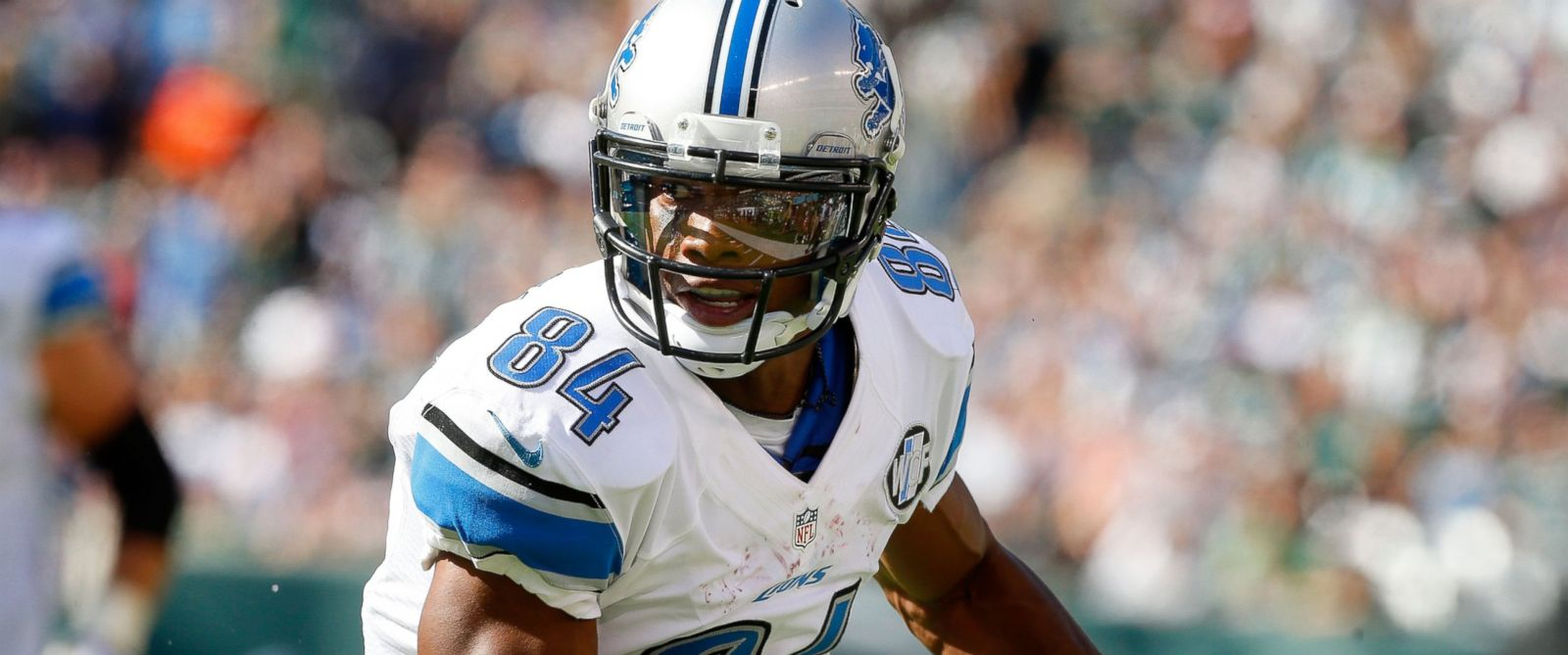 PHOTO:Ryan Broyles of the Detroit Lions in action against the New York Jets, Sept. 28, 2014, at MetLife Stadium in East Rutherford, N.J.