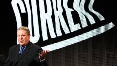 PHOTO: Former Vice President Al Gore, Current TV Chairman and Co-Founder, participates in the Television Critics Association Winter Press Tour in Pasadena , Calif., Jan. 13, 2012.