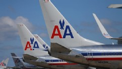 PHOTO: American Airline planes are seen at the Miami International Airport on February 7, 2013 in Miami, Florida.