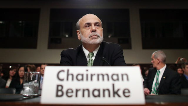 PHOTO: Federal Reserve Board Chairman Ben Bernanke testifies before the Joint Economic Committee on Capitol Hill, June 7, 2012 in Washington, DC.,