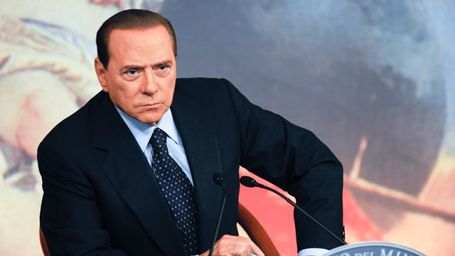 PHOTO: Italian Prime Minister Silvio Berlusconi attends a press conference to present new government measures for the youngsters, called 'Right To The Future', to support their right to build a family in Rome's Palazzo Chig.