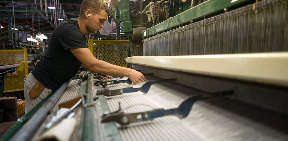 PHOTO: roll of carpet at the Bloomsburg Carpet Industries Inc. manufacturing facility