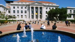 PHOTO: Sproul Hall and Plaza on Campus of University of California.