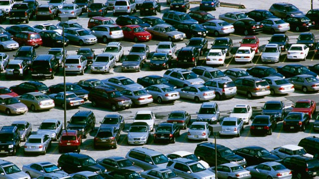 PHOTO: Cars are seen in a parking lot in this undated photo; many cars that have been recalled are resold without needed repairs.