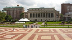 PHOTO: View of Columbia University campus from Low Memorial Library, Upper West Side, New York.