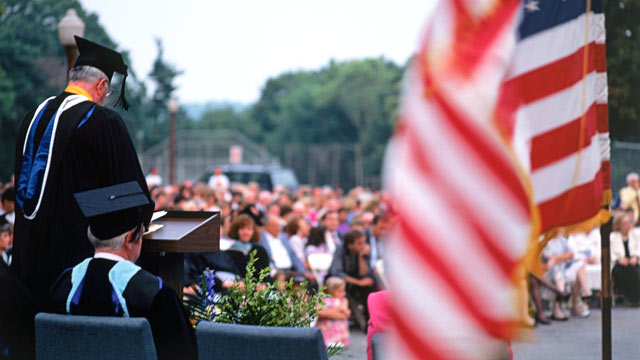PHOTO: Graduation season is the time when commencement speakers come from far and wide to give advice to new graduates.