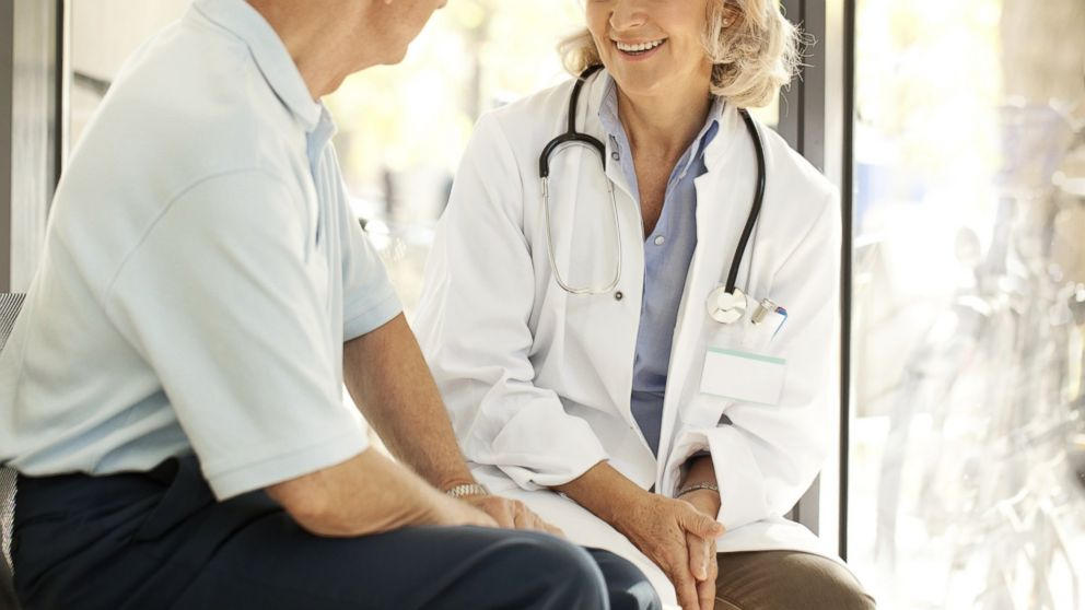 PHOTO: A doctor talking to a patient at the hospital is seen in this stock photo.