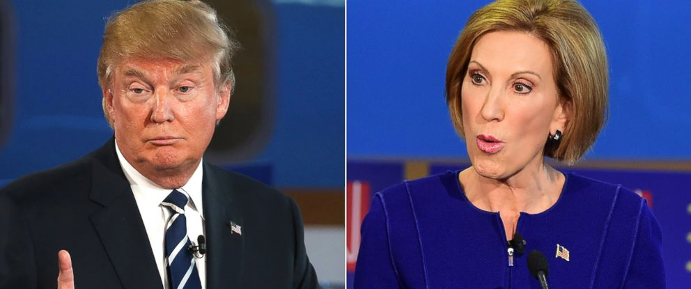 PHOTO: Donald Trump and Carly Fiorina debated their experience last night.