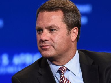 PHOTO: Doug McMillon, President and CEO of Wal-­Mart Stores, Inc. attends a panel discussion at the US-Africa Leaders Summit in Washington, DC on August 5, 2014.