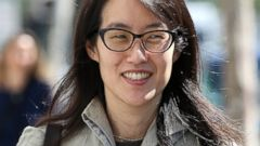 PHOTO: Ellen Pao leaves the San Francisco Superior Court Civic Center Courthouse with her legal team on March 25, 2015 in San Francisco, California.