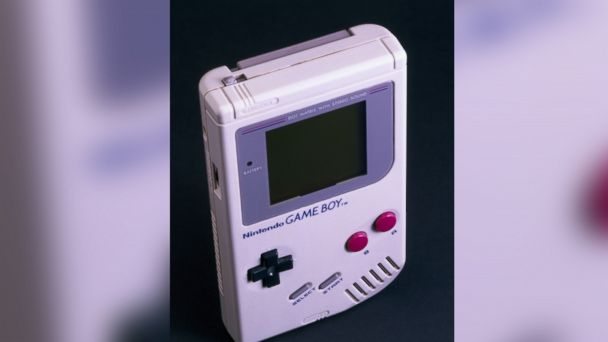 PHOTO: Hand-held games console with Tetris game cartridge, made by Nintendo, Japan.