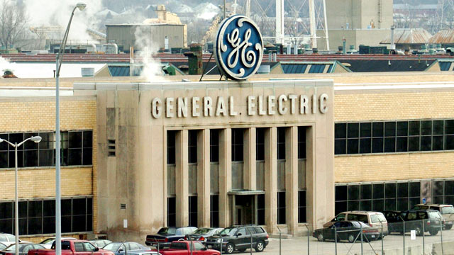 PHOTO: An exterior view of a General Electric plant is shown in Cincinnati, Ohio.