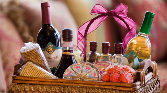 "PHOTO: Put together a small gift basket with a theme, such as making breakfast or a ""me time"" basket."