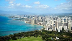 PHOTO: Waikiki beach and downtown Honolulu are seen in this undated file photo.