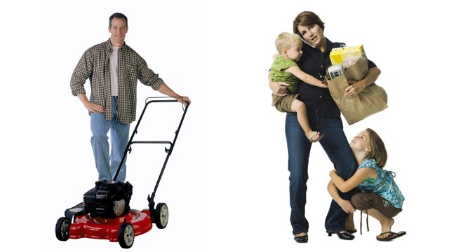 PHOTO: Insure.com says that dads are worth less than moms based on the work they do at home.