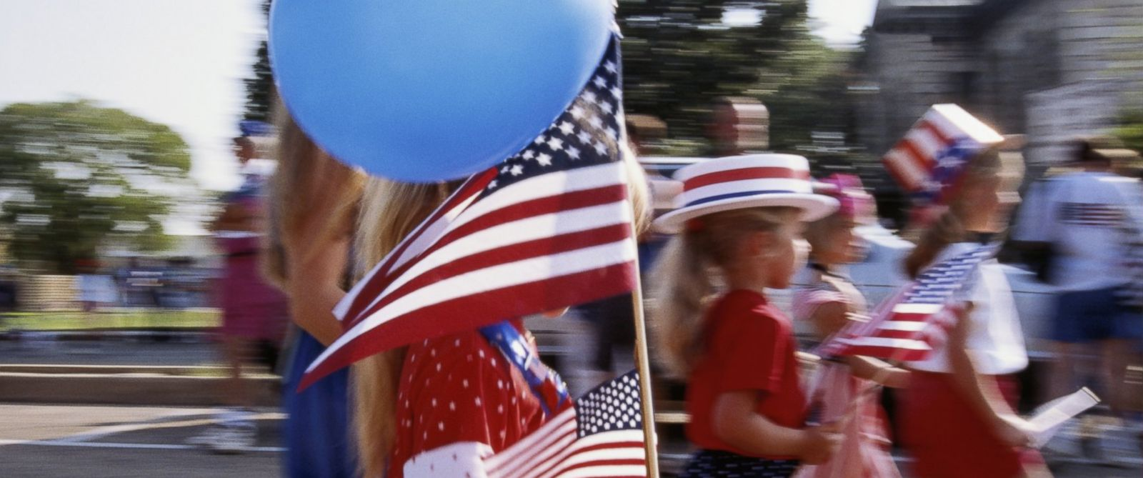 PHOTO: Children march in a Fourth of July parade in Fredericksburg, Texas in this undated stock photo.