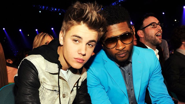 PHOTO: Singers Justin Bieber and Usher attend the 2012 Billboard Music Award, May 20, 2012, in Las Vegas.
