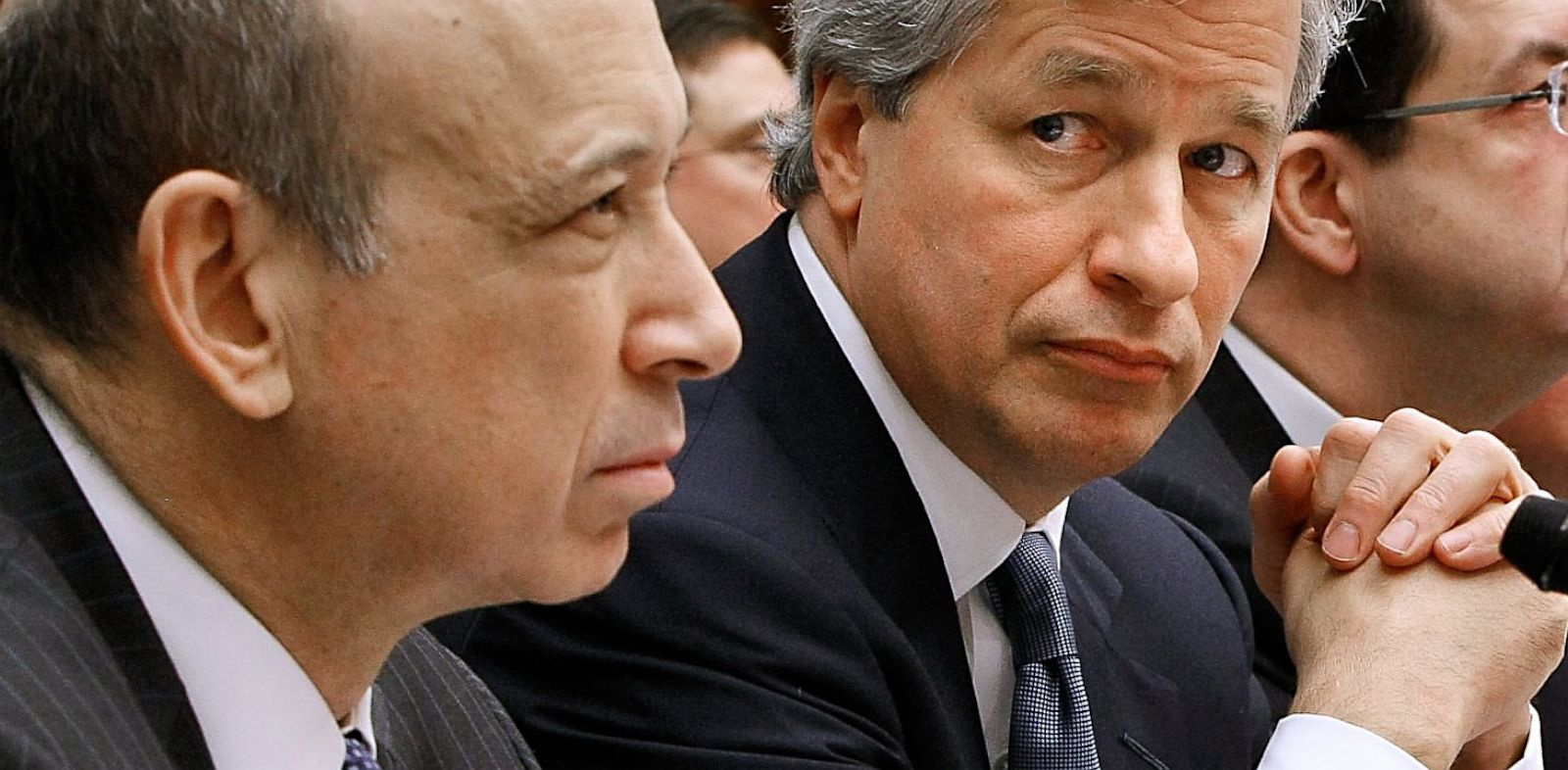 PHOTO: Lloyd Blankfein and Jamie Dimon