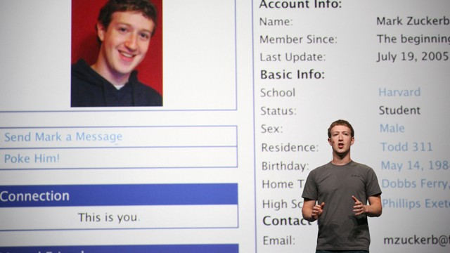 PHOTO: Facebook CEO Mark Zuckerberg delivering a keynote during the Facebook f8 Developer Conference at the San Francisco Design Center in this Sept. 22, 2011 file photo.