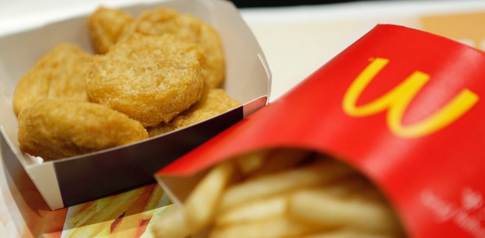 PHOTO: A box of chicken nuggets sits beside a portion of french fries at a McDonalds restaurant in Tokyo, Japan on Jan. 7, 2015.