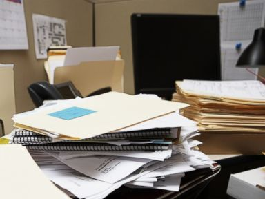PHOTO: A messy desk can allow opportunities for fraud.