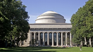 PHOTO: Students on campus at MIT Cambridge, Mass.