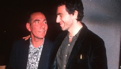 "PHOTO: Actor Daniel Day-Lewis and actor Pete Postlethwaite attend the ""In the Name of the Father"" New York City Premiere on December 3, 1993 at the Museum of Modern Art in New York City."