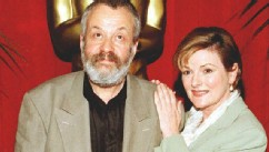 "PHOTO: Director Mike Leigh (L) and actress Brenda Blethyn pose as they arrive for the Academy Awards nominee luncheon 11 March in Beverly Hills, California where Leigh is nominated for best director and Blethyn for best actress, both for the film ""Secrets"