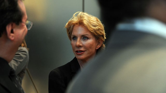 "PHOTO: Author Patricia Cornwell attends the screening of the Lifetime Original Movie ""Patricia Cornwell's The Front"" at Hearst Tower, April 7, 2010 in New York City."