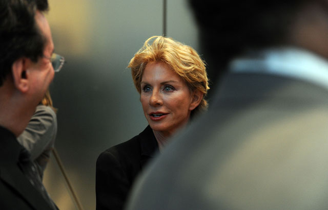 "PHOTO: Author Patricia Cornwell attends the screening of the Lifetime Original Movie ""Patricia Cornwells The Front"" at Hearst Tower, April 7, 2010 in New York City."