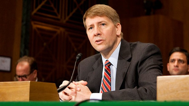 PHOTO: Richard Cordray, President Barack Obama's choice to run the U.S. Consumer Financial Protection Bureau, testifies at his nomination hearing before the Senate Banking Committee in Washington, D.C. in this Sept. 6, 2011 file photo.